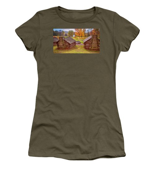 Valley Forge Huts In Fall Women's T-Shirt