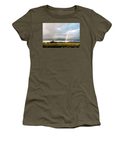 Valley Rainbows 1 Women's T-Shirt (Junior Cut) by Janie Johnson