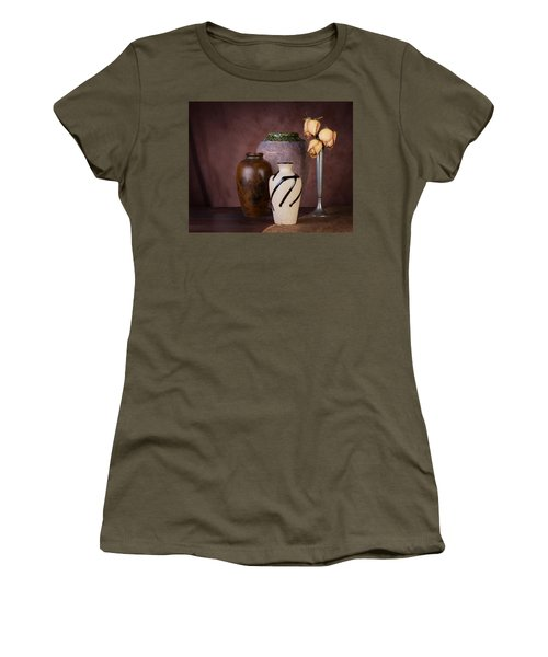 Vase And Roses Still Life Women's T-Shirt
