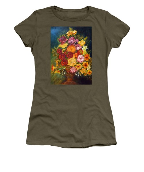 Vase With Flowers Women's T-Shirt (Athletic Fit)