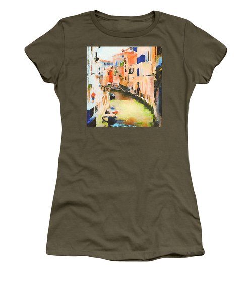 Venice On Waters Women's T-Shirt (Athletic Fit)