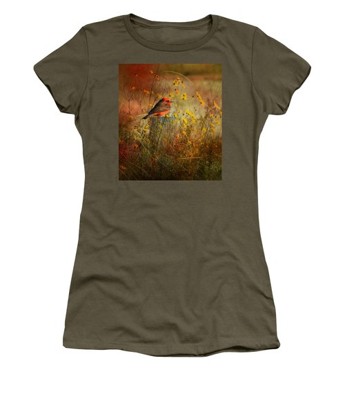 Vermilion Flycatcher At St. Marks Women's T-Shirt (Athletic Fit)