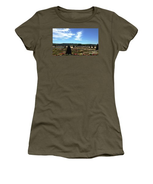 Versailles Palace Gardens Women's T-Shirt (Junior Cut) by Therese Alcorn