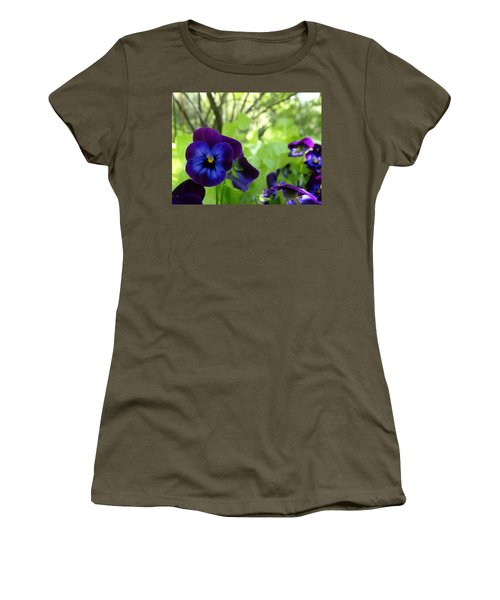 Vibrant Violets In Purple Women's T-Shirt (Athletic Fit)
