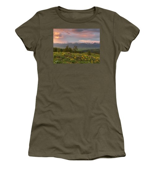 Victor Idaho Sunset Women's T-Shirt (Athletic Fit)