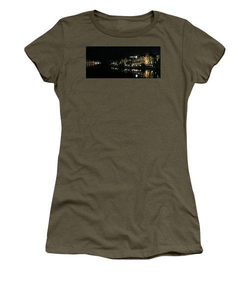 Victoria Harbor Night View Women's T-Shirt (Junior Cut) by Betty Buller Whitehead