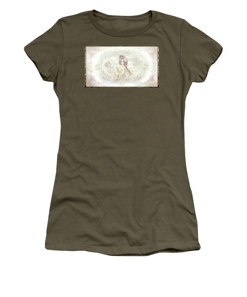 Women's T-Shirt (Athletic Fit) featuring the mixed media Victorian Princess Altiana by Shawn Dall