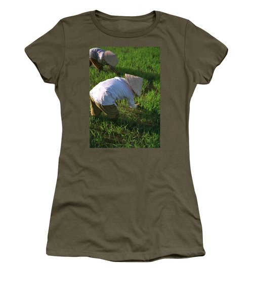 Vietnam Paddy Fields Women's T-Shirt (Athletic Fit)
