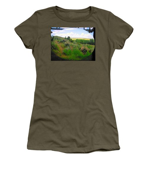 View From Cabin Window Women's T-Shirt (Junior Cut) by Lenore Senior