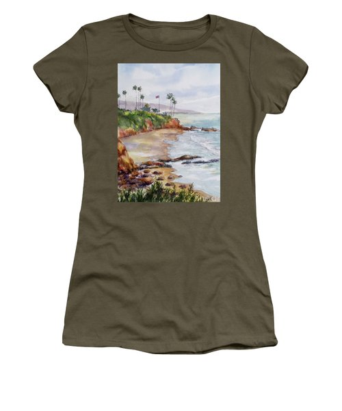 View From The Cliff Women's T-Shirt (Junior Cut) by William Reed