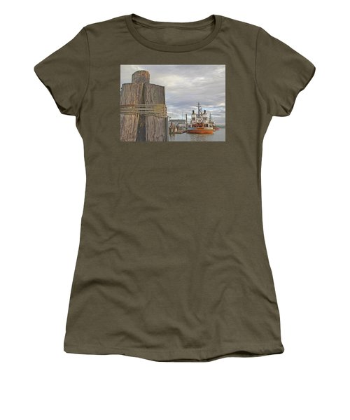 View From The Pilings Women's T-Shirt (Athletic Fit)