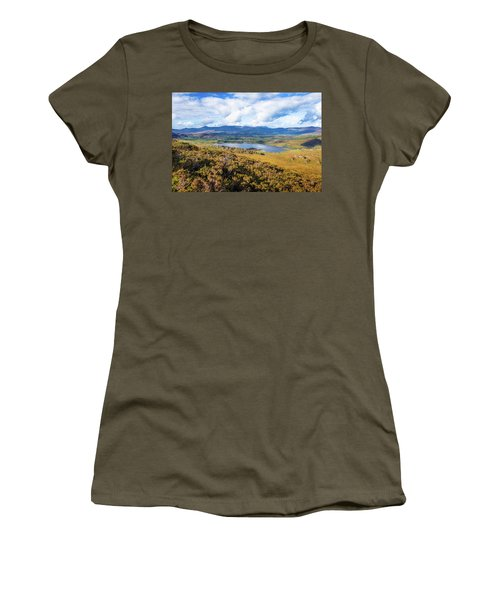 View Of Lough Acoose In Ballycullane From The Foothill Of Macgil Women's T-Shirt (Junior Cut) by Semmick Photo