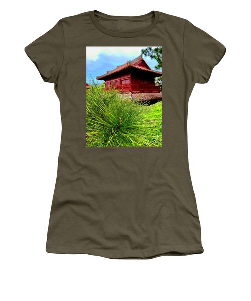 View Of Murasaki Mura, Okinawa. Women's T-Shirt (Athletic Fit)