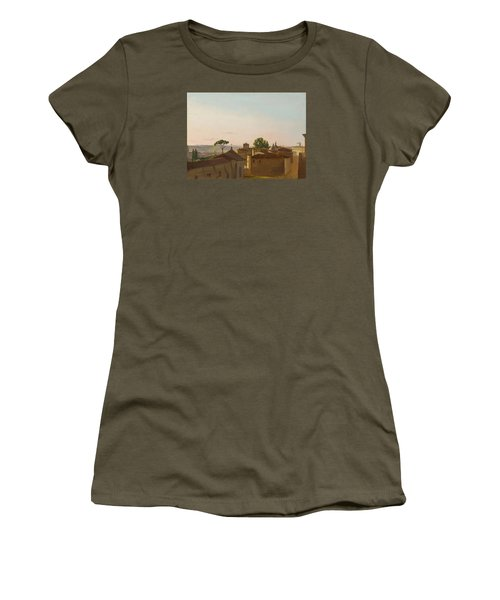Women's T-Shirt (Junior Cut) featuring the painting View On The Quirinal Hill. Rome by Simon Denis