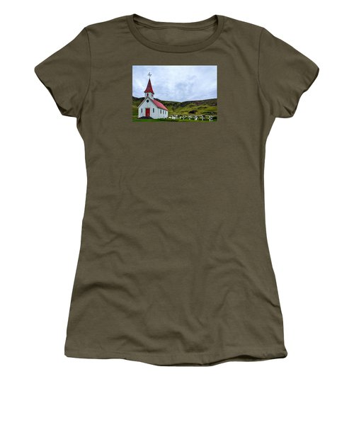 Vik Church And Cemetery - Iceland Women's T-Shirt