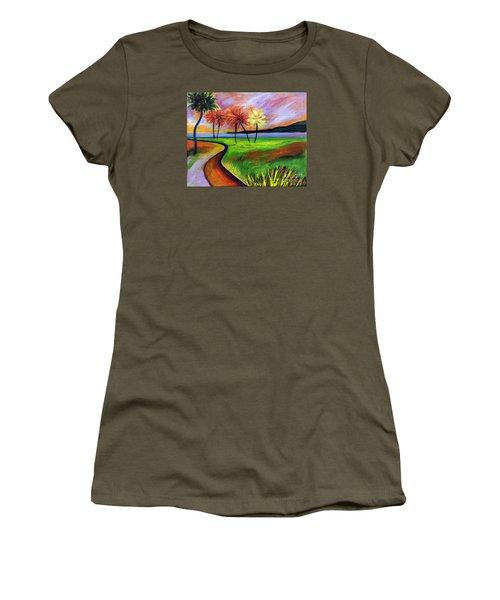 Vinoy Park In Purple Women's T-Shirt (Athletic Fit)