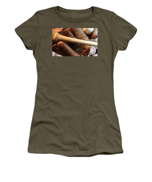 Vintage Baseball Women's T-Shirt (Athletic Fit)