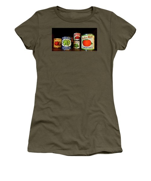 Women's T-Shirt (Athletic Fit) featuring the photograph Vintage Canned Vegetables by Joan Reese