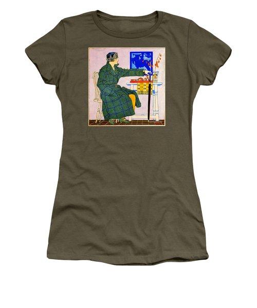 Vintage Clothing Advertisement 1910 Women's T-Shirt (Junior Cut) by Padre Art