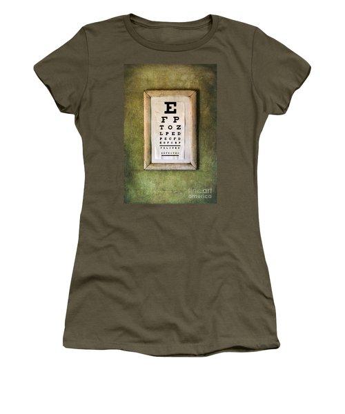 Vintage Eye Chart Women's T-Shirt (Junior Cut) by Jill Battaglia