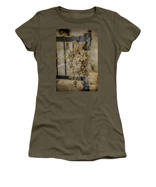 Vintage Floral Swag On A Bedpost Women's T-Shirt