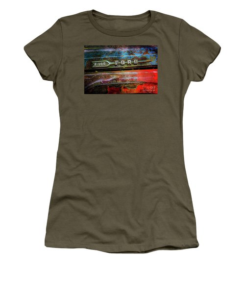 Vintage Ford F100 Women's T-Shirt (Athletic Fit)