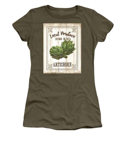 Vintage Fresh Vegetables 2 Women's T-Shirt (Junior Cut)