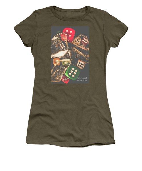 Vintage Gambling Scene Women's T-Shirt
