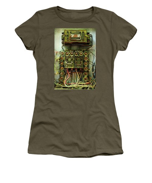 Vintage Household Fuse Box Women's T-Shirt (Junior Cut) by Michael Eingle