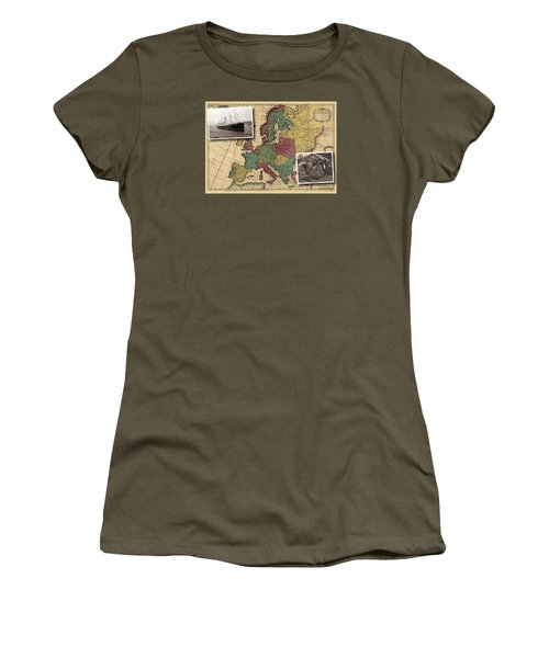 Vintage Map Europe Immigrants Women's T-Shirt