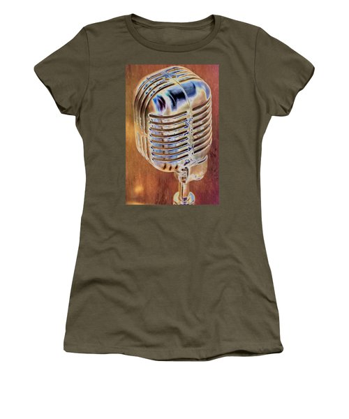 Vintage Microphone Women's T-Shirt (Athletic Fit)