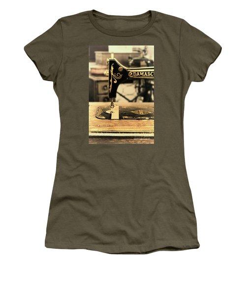 Women's T-Shirt (Junior Cut) featuring the photograph Vintage Sewing Machine by Jill Battaglia