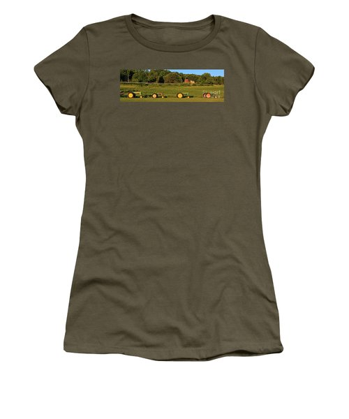 Vintage Tractors Sunset Panoramic Women's T-Shirt