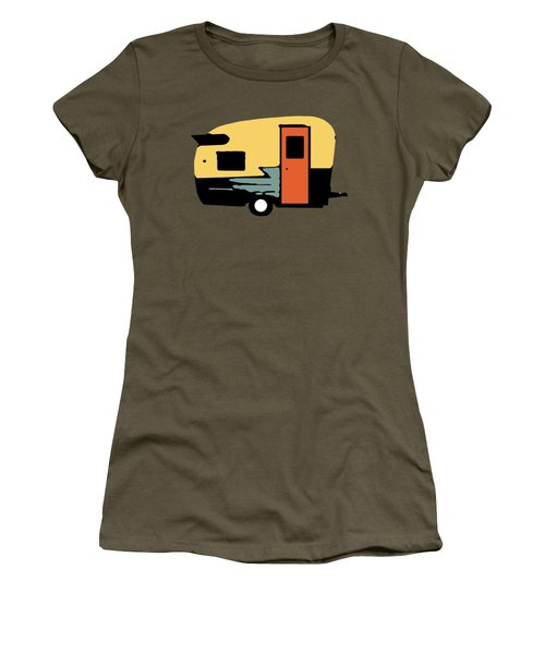 Women's T-Shirt featuring the photograph Vintage Travel Camper Transparent by Edward Fielding