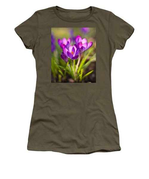 Vivid Petals Women's T-Shirt (Junior Cut) by Mike Reid