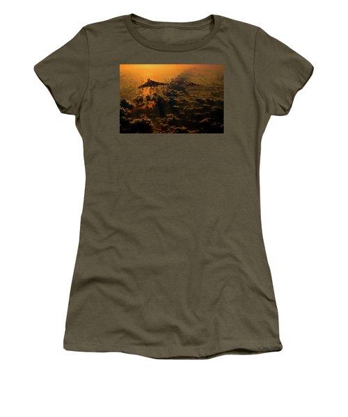 Vulcan Bomber Sunset Women's T-Shirt (Junior Cut) by Ken Brannen