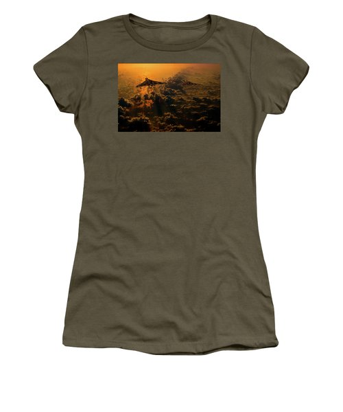 Vulcan Bomber Sunset Women's T-Shirt (Athletic Fit)