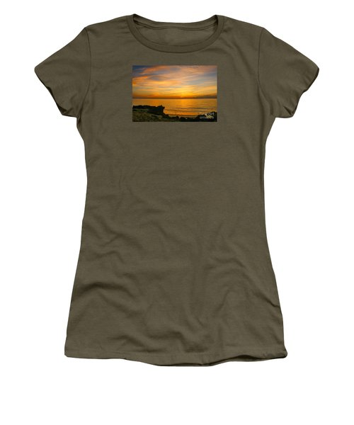 Wading In Golden Waters Women's T-Shirt (Junior Cut) by Tom Claud