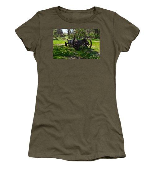 Wagon And Dandelions Women's T-Shirt (Junior Cut) by Renie Rutten