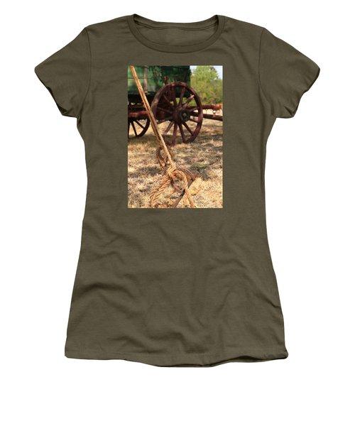 Wagon Stake Women's T-Shirt (Junior Cut) by Toni Hopper