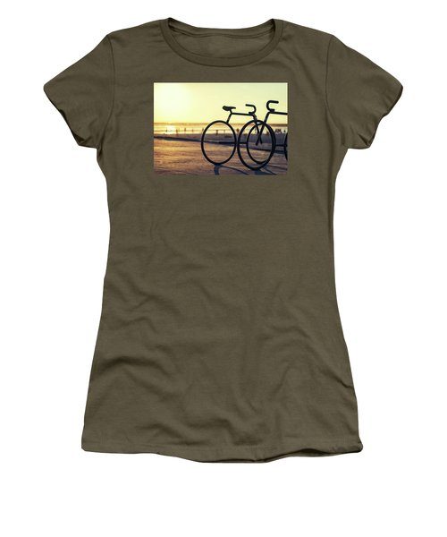Waiting For A Rider Women's T-Shirt (Junior Cut) by Joseph S Giacalone