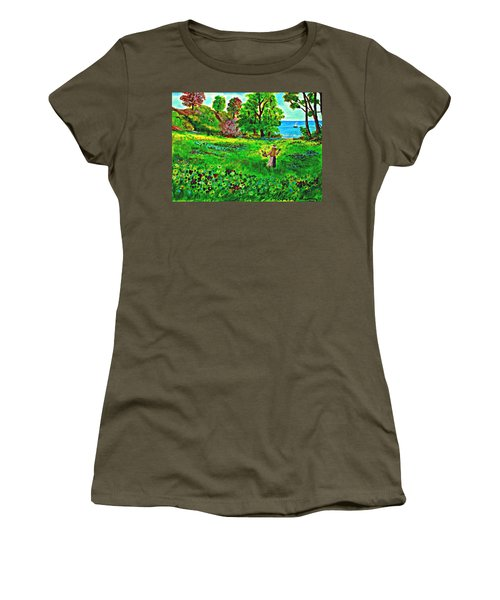 Waiting For Her Friend Women's T-Shirt (Athletic Fit)