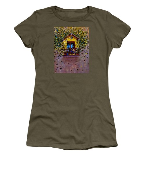 Women's T-Shirt (Junior Cut) featuring the painting Waiting For You..3 by Cristina Mihailescu
