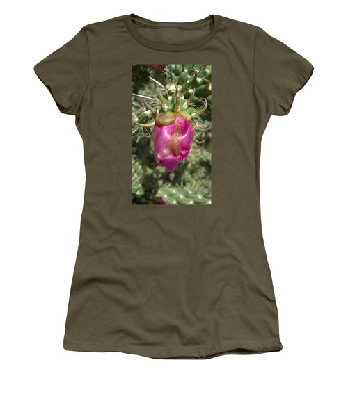 Waiting In The Desert Women's T-Shirt (Junior Cut) by Claudia Goodell