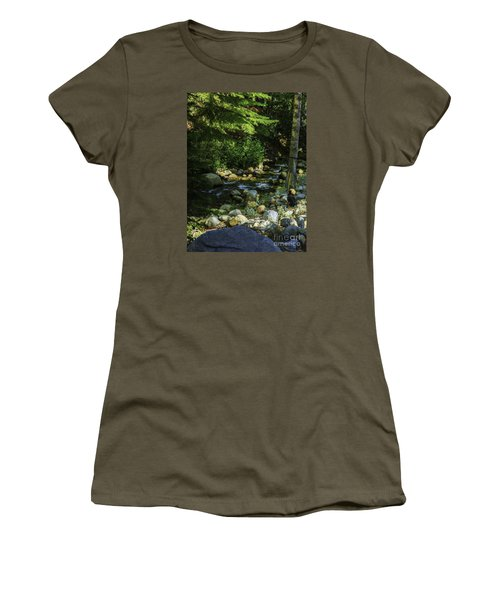 Women's T-Shirt (Junior Cut) featuring the photograph Waiting by Nancy Marie Ricketts