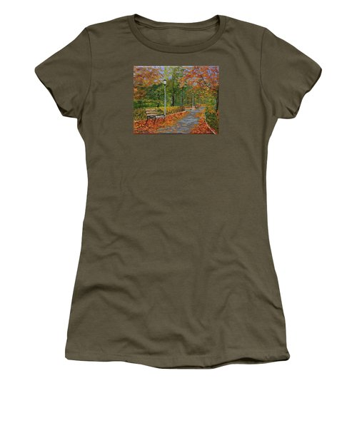 Walk In The Park Women's T-Shirt (Junior Cut) by Mike Caitham