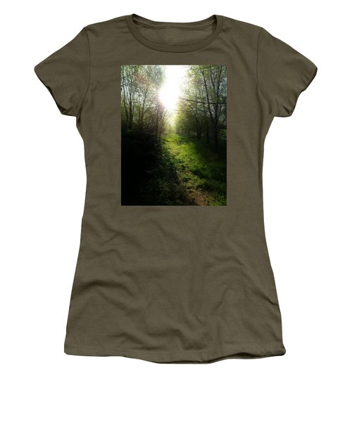 Walk In The Woods Women's T-Shirt (Junior Cut) by Michele Carter