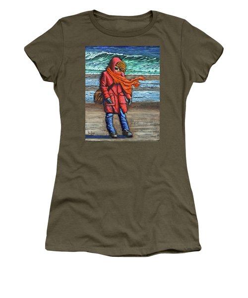 Walk On Beach Women's T-Shirt
