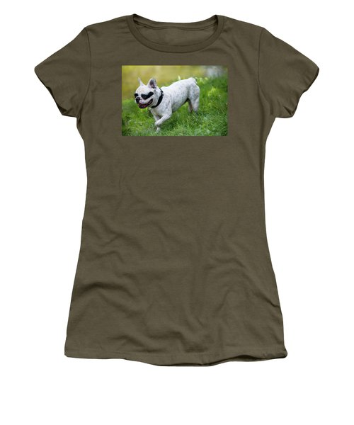 Walking French Bulldog  Women's T-Shirt