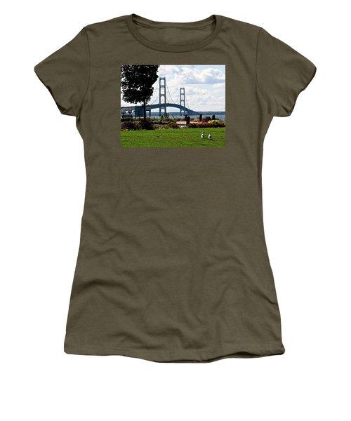 Walking To The Bridge Women's T-Shirt